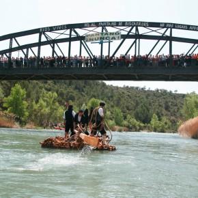 Luis Solana Garcés y Francisco Fraguas invitados como nabateros para descender el río Gállego