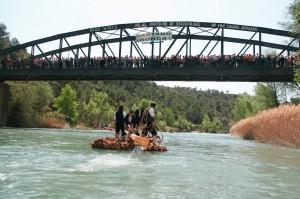 Nabata llegando al Puente de Santolaria
