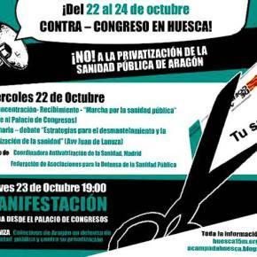 Contra – congreso en Huesca: No a la privatización de la sanidad pública de Aragón