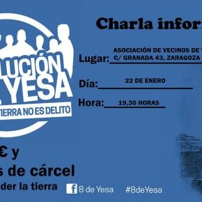 """Charla informativa sobre los """"8de Yesa"""", Viernes 22 Enero a las 19.30h"""
