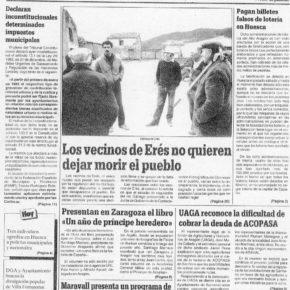 Biscarrués proyecto del pantano 30 años después