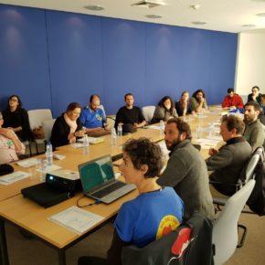 Intensa jornada de trabajo en Bruselas de la Coordinadora