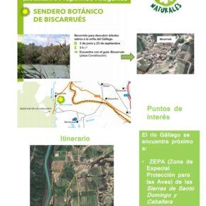 Excursiónguiada al Sendero Botánico con los Puntos de Encuentro Naturales de la Comarca Hoya de Huesca